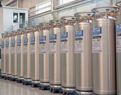 Bình chứa khí ni tơ cho máy cắt plasma CNC