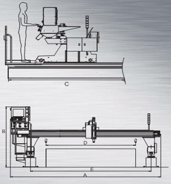 Hỉnh ảnh thiết kế các mặt cắt máy cắt plasma cnc procut 35